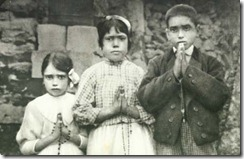 Jacinta Marto, Lucia dos Santos, and Francisco Marto