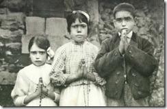 Jacinta Marto, Lucia dos Santos, and Francisco Marto
