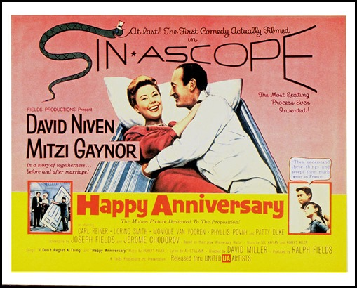 Happy Anniversary Movie Poster David Niven Mitzi Gaynor